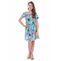 Vestido Fanyland Ciganinha Floral Viscose