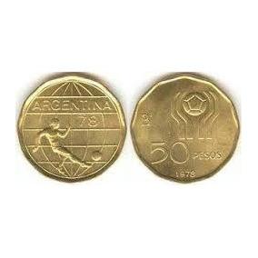 Moneda Argentina 50 Pesos Ley Mundial 78