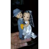 Topo De Bolo Noivinhos Para Casamento Personalizado Biscuit