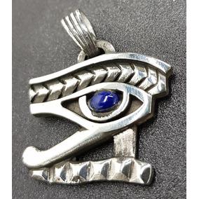 Medalla Ojo De Horus Egipcio Plata Y Piedra 12 Gr Art 175