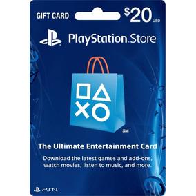 Tarjeta Psn Card (playstation Network) Americana,$20 Dolares