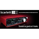 Placa De Sonido Focusrite Scarlett 2i2 Usb 2 Entradas