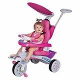 Triciclo Super Trike Reclinável 3 Posições Rosa - Magic Toys