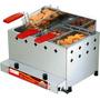 Fritadeira Inox À Gás Pr-30g De 10 Litros 3 Cestos Cc