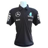 Camiseta Polo Mercedes Benz Petronas F1 Importada_ Promoção