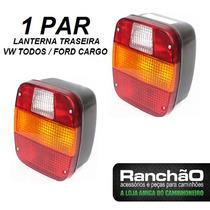 Par Lanterna Traseira Caminhão Vw Ford Cargo Troller