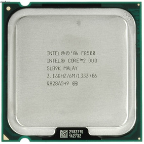 Processador Intel® Core2 Duo E8500, Cache De 6 M, 3,16 Ghz