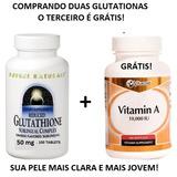 Glutationa Sublingual 50 Mg + Vitamina C 500 Mg Grátis!