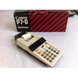 Calculadora/impresora Antigua Canon P7-d Operativa.
