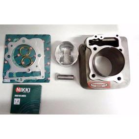 Kit Cilindro Pistão Aneis Motor Honda Falcon Nx400 Nikki
