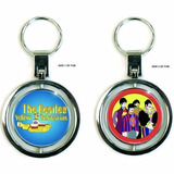 Llavero Beatles Metal Giratorio Yellow Submarine 5cm Diámetr