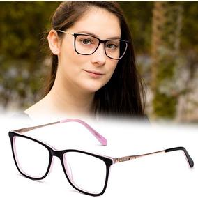 Armação Oculos P/ Grau Feminino Pr17 Acetato Metal Original