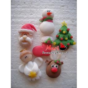Adornos Apliques Navideños Porcelana Fria Navidad