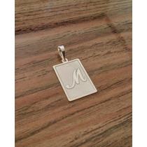 Pingente Letra Inicial Placa Personalizado Prata 925