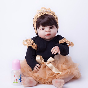 Bebe Reborn Boneca Realista Inteira De Silicone 55 Cm