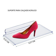25 Expositor Sapato Calçado P/ Painel Canaletado
