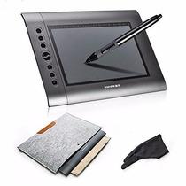Tableta Gráfica Huion H610 + Guante De Trabajo + Bolsa