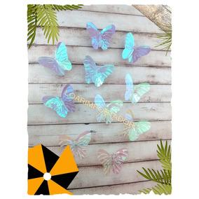 100 Mariposas Tornasolada Deco Tarjetas Cuadros