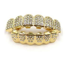 Grillz Ouro 18k Com Diamantes Completo | Pronta Entrega