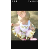Tutus Y Vestidos Minnie Gold Golden Y Rosado