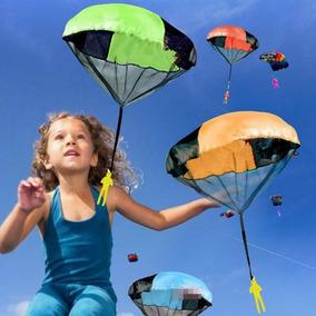 Mini Paraquedas De Mão Soldado Brinquedo Paraquedista