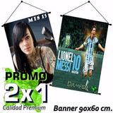 Banners Colgantes 90x60 Cm Gigantografías Promo 2x1
