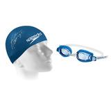 Kit Nataçao Speedo Infantil 7 A 12 Anos (oculos+touca) Azul e598724db2e5b