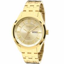 Relógio Technos Automático Dourado - 8205nk/4x Promoção! ! !