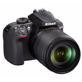 Câmera Nikon Dslr D3400 C/ Lente 18-105mm 24.2mp 12x S/juros