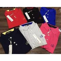 Kit 5 Camisa Gola Polo Ck Calvin Camiseta Diversas Cores