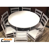 10 Jogos De Mesa C/ 8 Cadeira De Ferro Para Buffet