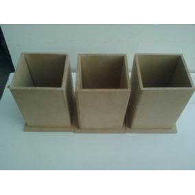 Portalapices En Fibrofacil Para Souvenirs 6x6x9 Cm