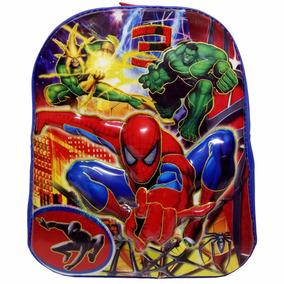 Mochila Escolar Infantil Homem Aranha Hulk Alto Relevo 3d
