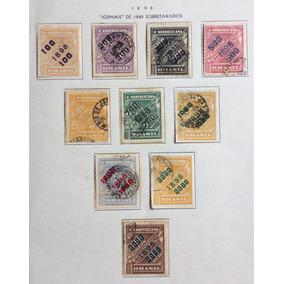 10 Selos Sobretaxados 1898 - Série Jornais