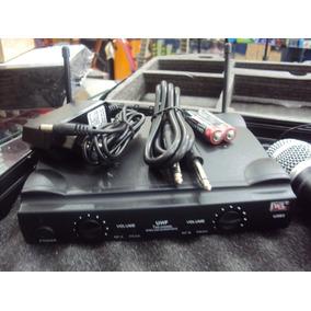 Microfone S/ Fio Duplo Uhf Mão Head Set U-585 Jwl