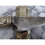 Antiguo Cuchillo Marca Defensa Plateria 800 , Facon Plata