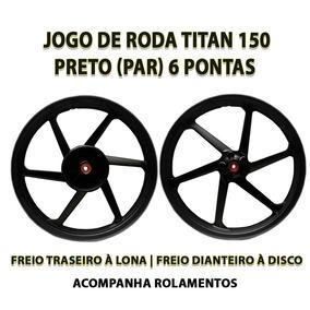 Jogo De Roda Liga Leve Titan 150 Fabreck Freio À Disco