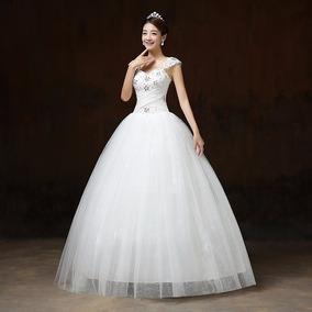 Vestido Novia Princesa Corazón Sencillo Ivory F