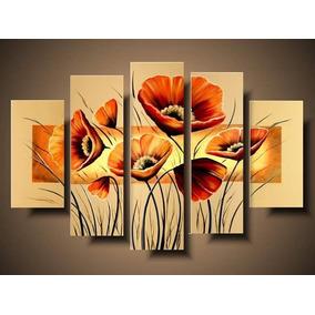 Cuadros Hecho A Mano Florales Abstractos Africano Modernos