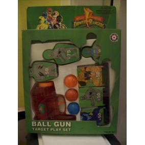 Brinquedo Antigo Placa Toys Jogo Power Rangers Ball Gun 90