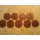 9 Monedas 20 Centavos Piramide 1965 A 1974 -1972