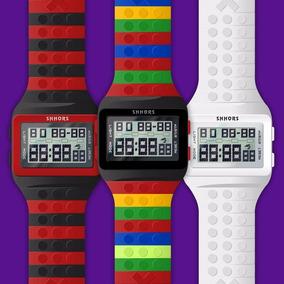 Reloj Estilo Lego 5 Piezas A Elegir 18 Colores Mayoreo