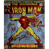 Iron Man Poster Metalico The Birth Of The Power