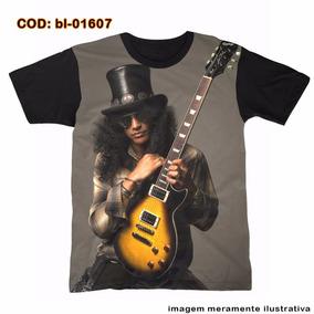 Camiseta Barba Ruiva - Slash Guns N