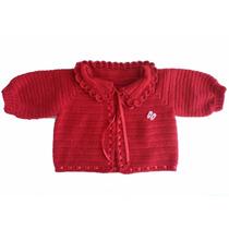 Casaquinho Infantil - Crochê - Vermelho