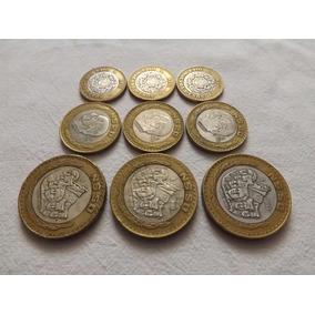 Colección 3 Monedas Centro De Plata N$10 N$20 N$50 1993 Dhl