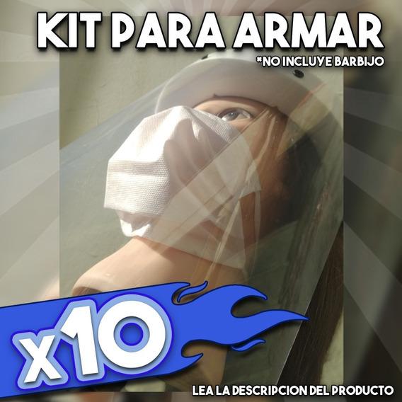 Protector Facial X10 Oferta Mascara Reutilizable Barbijo