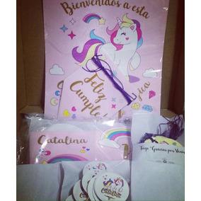 Party Box Candy Bar Deco Cumples Unicornio 24 Invitados