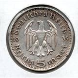 Moneda Alemania Nazi 5 Marcos. # 833 Apo