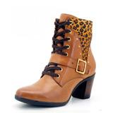 Bota Feminina Casual Cano Medio Ziper Atron Shoes 9056